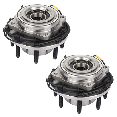 Bodeman - Pair 2 Front Wheel Hub & Bearing Assembly for 2011-2016 Ford F-250 F-350 Super Duty - 4WD; SRW; 8 LUG