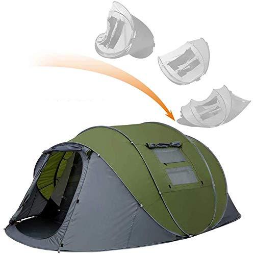 Pkfinrd Pop-Up-Zelte mit Vorraum für Doppelschichten, wasserdicht, einfache Einrichtung, großes Camping-Zelt, belüftete Netzfenster, schnell aufzubauen, Zelte, grün