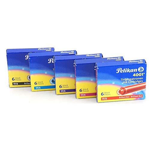 Marca-Pelikan Referencia-187161 Marca-Pelikan-El producto es original y exclusivo de la marca -Pelikan- CAJA 6 CARTUCHOS TINTA TP/6 AZUL ROJO 301176-Pertenece a la categoría de los consumibles-Referencia-187161 Dispositivos compatibles: No aplica núm...
