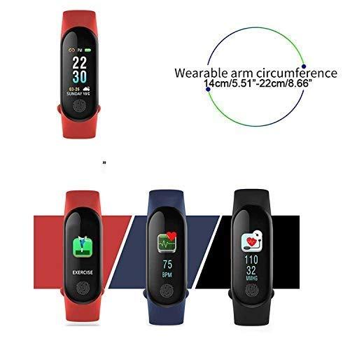 Teconica Electronic M3 Bluetooth Health Wrist Smart Band Activity Tracker/Smart Fitness Band Compatible with All Smartphone (Assorted Colour)