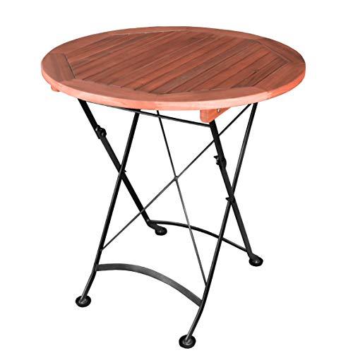 greemotion Tisch Borkum, klappbar, rund, Ø ca. 70 cm, Akazienholz FSC 100 %
