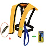 Eyson Life Jacket for Adult, Life Vest Inflatable PFD Automatic and Manual Lightweight and CE Certificated, 150KG (330lb)