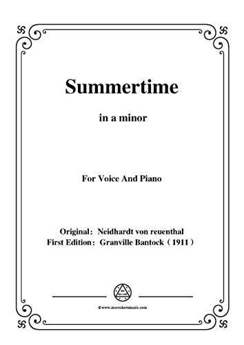 Bantock-Folksong,Summertime(Sommerlied),in a minor,for Voice and Piano (English Edition)