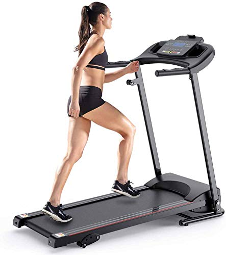 Wild-lOVE Treadmills for Home Folding Electric Motorized Running Machine LED Display Safety Key 12 Preset Programs Exercise Fitness Trainer Equipment Gym Office Treadmills