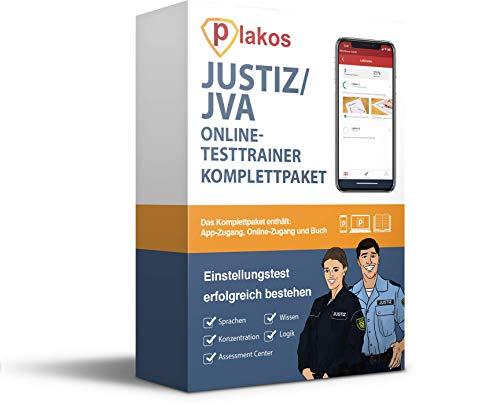 Justiz und JVA Einstellungstest Online-Testtrainer mit Buch | Über 2500 Aufgaben mit Lösungen | Eignungstest Justizvollzug, Justizfachangestellte, Justizvollzugsbeamte