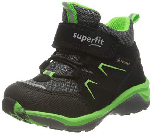 Superfit Jungen Sport5 Sneaker, SCHWARZ/GRÜN 0000, 24 EU