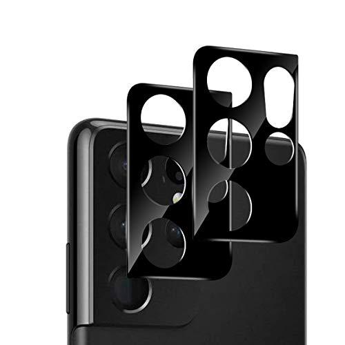 GEEMEE per Samsung Galaxy S21 Ultra Camera Vetro temperato Pellicola Protettiva, 2 Pack Durezza 9H Copertura Completa Protezione Schermo Vetro Temperato, Anti Graffi Screen Protector Film - Nero