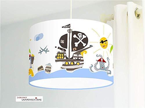 Lampe Kinderzimmer Piraten aus Baumwollstoff - alle Farben möglich