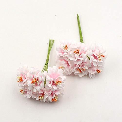 Erfhj Kunstbloemen van zijde, gradium, boeket, handgemaakt, voor bruiloft, thuisdecoratie, knutselen, scrapbooking, slinger, kunstmatige bloemen, roze