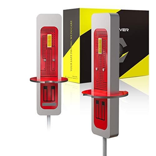 H3 LED Antiniebla, Luces de Antiniebla Delanteros 2000LM, 12V, 6000K Blanco (2 Bombillas)