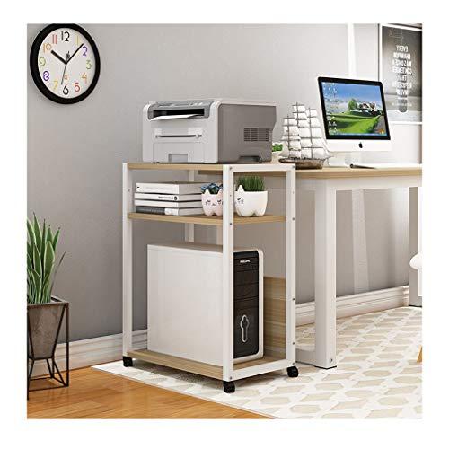Carro ruedas Impresora hogar Plataforma Multi-capa de almacenamiento de escritorio de oficina Estantes simples copiadora multifuncional de almacenamiento de documentos soporte para fotocopiadoras e im