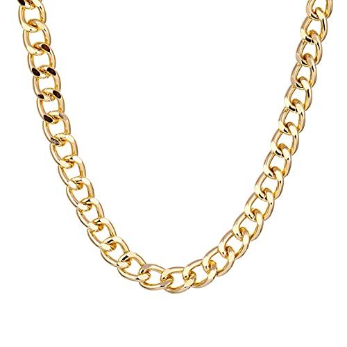HDZW Punk Gold Silver Color Twist Change Change Change Collar de Moda Moda Hombres Mujeres Geométrica Clavícula Collar de Cadena Grueso Joyería gótica 7.17 (Color : Gold)