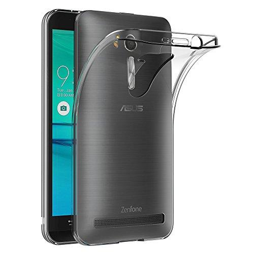 AICEK Asus Zenfone Go ZB552KL Hülle, Transparent Silikon Schutzhülle für Zenfone Go ZB552KL Case Clear Durchsichtige TPU Bumper Asus ZB552KL Handyhülle (5,5 Zoll)