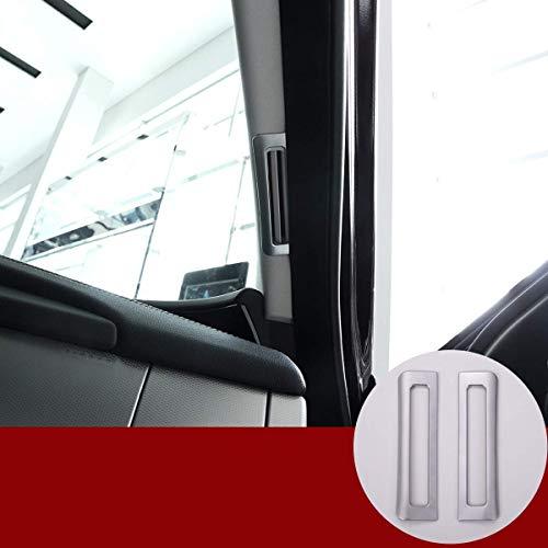 Autoverkleidung, ABS-Chrom-Innenausstattung A Säule Luftauslassabdeckung Verkleidungsaufkleber 2St. Kompatibel Jag XE XF 2016-2019 Autozubehör