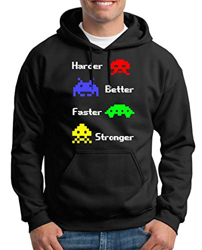 TShirt-People Harder Better Faster Pull à Capuche pour Homme - Noir - Small