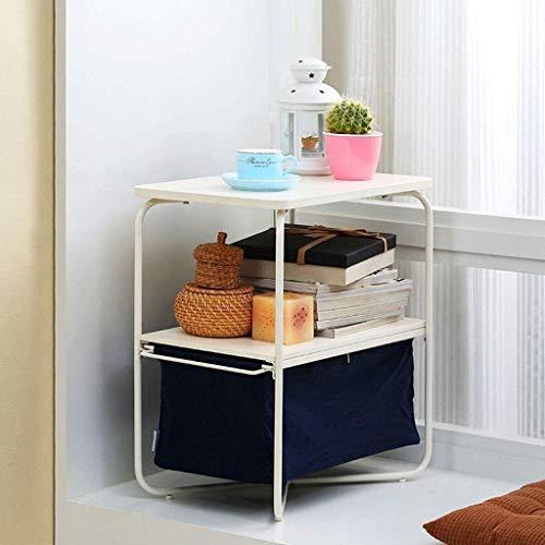 N/Z Tägliche Ausrüstung Nachttisch Beistelltisch für Wohnzimmer/Schlafzimmer Einfache Aufbewahrung Couchtisch Kreativer Beistelltisch Multifunktionsaufbewahrung Aufbewahrung Zweischichtiger Dreischic