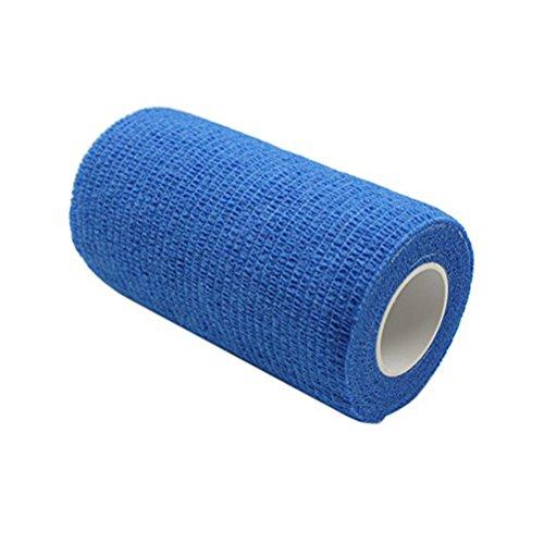 ULTNICE 6 Roll Cohesive Wrap Bandage Tape Selbstklebende Bandage Tape für Athletic Sport 7.5x450cm (blau)