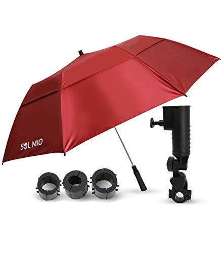 SolMio Umbrella + Adjustable Clamp | Umbrella Clamp for Chair