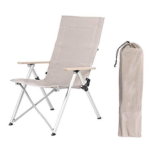 TLBB Outdoor-Klappstuhl DREI-Speed-einstellbare langwesene Stuhl im Freien Camping Liegestuhl Picknick Strand Relaxation Chair (Color : Khaki)