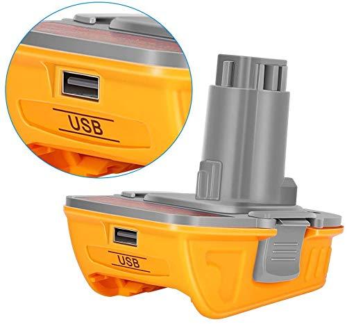 Product Image 1: DCA1820 Battery Adapter for Replace Dewalt 18V to 20V Tools Convert for Dewalt 18V NiCad & NiMh Battery Tools DC9096 DW9096 DC9098 DC9099 DW9099(USB Converter) (1 Pack)