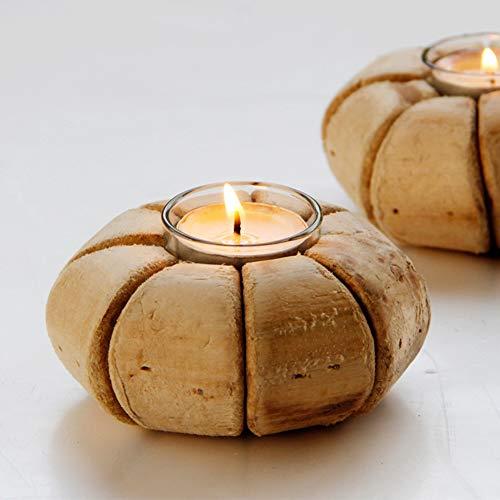 happyhouse009 Kerzen-Teelichthalter aus Holz, Kürbis-Handwerk, Glas, Kerzenhalter, Tischdekoration, Valentinstag, Hochzeitsgeschenk multi