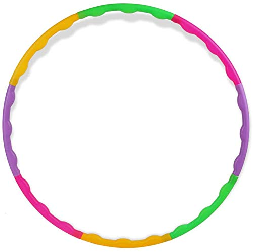 Lowest Prices! HANCYLILY Hoola Hoop for Kids, Detachable Adjustable Weight Size Plastic Hula Rings, ...
