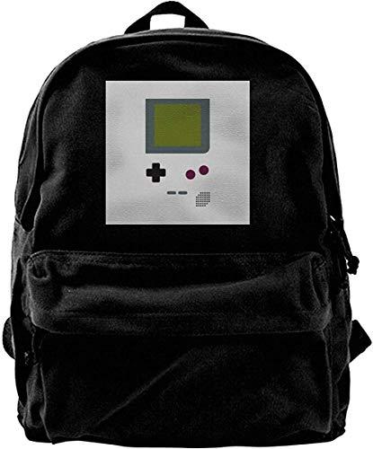 Homebe Canvas Backpack Gameboy Shirt Rucksack Gym Hiking Laptop Shoulder Bag Daypack for Men Women