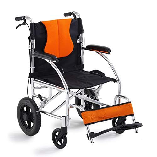 Bastones Sillas de Ruedas Aluminio Plegable, Ligero, Autopropulsado, Silla de Ruedas Portátil, Dispositivo de Movilidad para Personas Mayores Discapacitadas y Discapacitadas