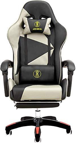 Desk Chairs DBL Silla Silla ergonómica for Juegos/E-Deportes/reclinable/Giratorio Armchair- Respaldo Alto Racing Estilo giratoria Silla de Oficina con reposapiés, Opcionales Las sillas de