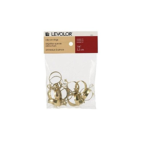 Levolor-kirsch 14822 Curtain Rod Round Ring Clips