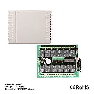 Receptor-Receptor-12-canales-Ch-para-puertas-automticas-1-Remoto--Automatizacin-del-Cierre-frecuencia-433-MHZ