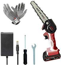 Mini kettingzaag accu met één hand draagbare kettingzaag 6 inch 24 V 1 hand takkenschaar kettingzaag met 1 oplaadbare batt...