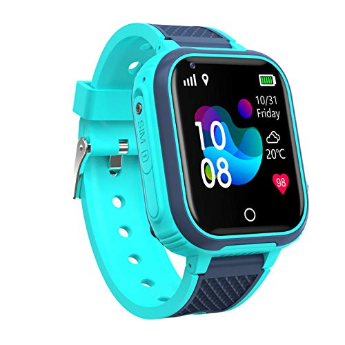 XUANWEI Reloj Inteligente 4G con cámara para niños, rastreador GPS, WiFi, IP67, Resistente al Agua, Seguimiento de videollamadas, Reloj con Pantalla táctil
