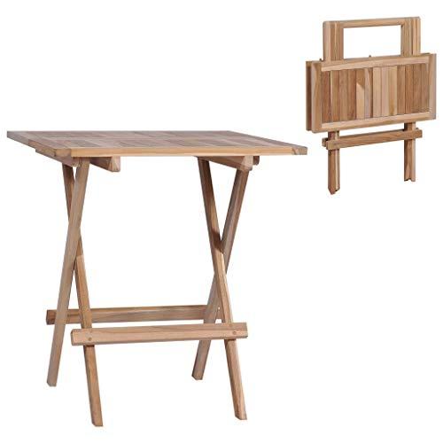 shang Tisch Klapptisch Holztisch Klappbarer Bistrotisch 60x60x65 cm Teakholz Massivholz