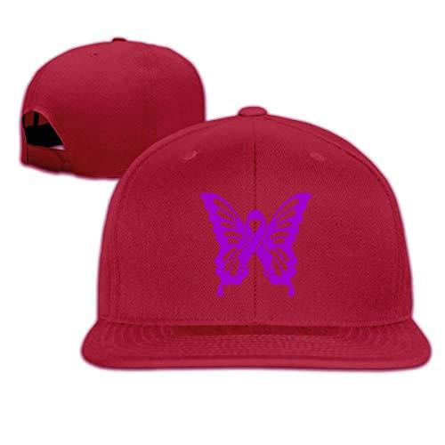 Lupus Awareness Butterfly Unisex Hip Hop Hat Casual Baseball Cap Adjustable Cricket Hat