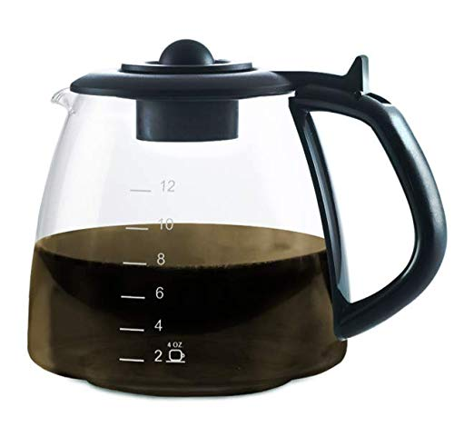 CAFÉ BREW COLLECTION Glass Coffee Replacement Carafe - Coffee Machine Replacement Carafe - Best BPA free Coffee Replacement Carafe - 12 Cup Replacement Coffee Carafe