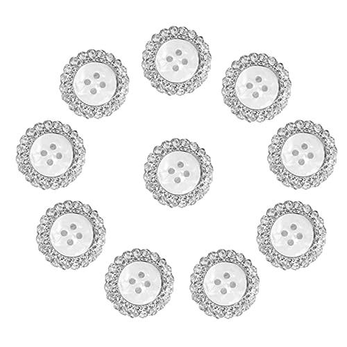 Botones Redondos De Diamantes Imitación Botón Flores Diamantes Diamantes De Imitación Botón...