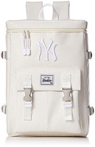 [メジャーリーグベースボール] リュック スクエアリュック 合成皮革 PU ヤンキース おしゃれ 通学 流行 YK-MBBK61 ホワイト One Size