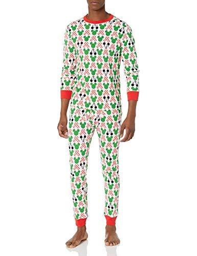 Amazon Essentials Disney Star Wars Marvel Family Matching Snug-fit Cotton Pyjamas Sleep Sets Trousers, 2-Piece Mickey Holiday, X-Large