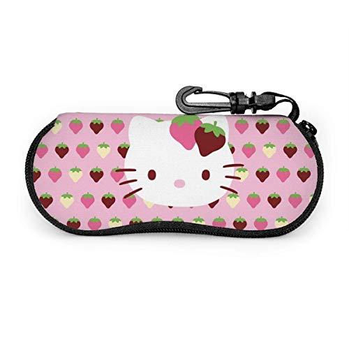 Estuche para gafas de sol y anteojos Lindo Hello Kitty Fresa