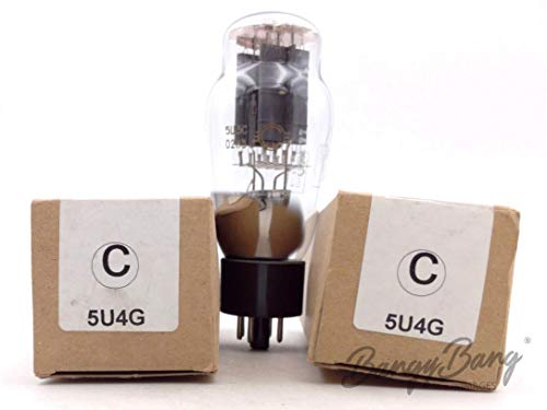 Fantastic Prices! 2 Vintage Svetlana 5U4G/5U3C/VT244 Full Wave Power Rectifier TV Valve- BangyBang T...