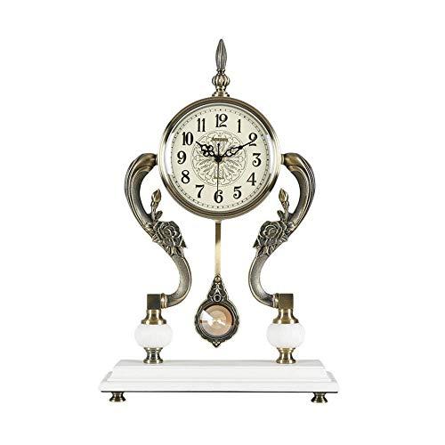 NOSSON Kaminuhren, Tischtischuhr Aus Holz Stehuhren Ornament Klassisch Nicht Tickend Antik Analog Quarz Schreibtisch & Regaluhren Geschenk (45 * 31Cm), A.