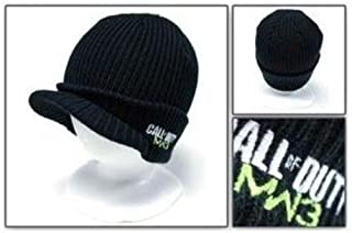 Call of Duty MW3 Black Billed Beanie Hat