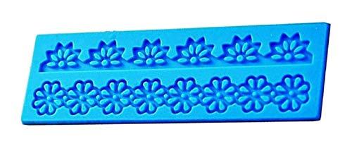 Molde de flores de encaje de silicona pasta de azúcar griega fondant tortas de panqueques