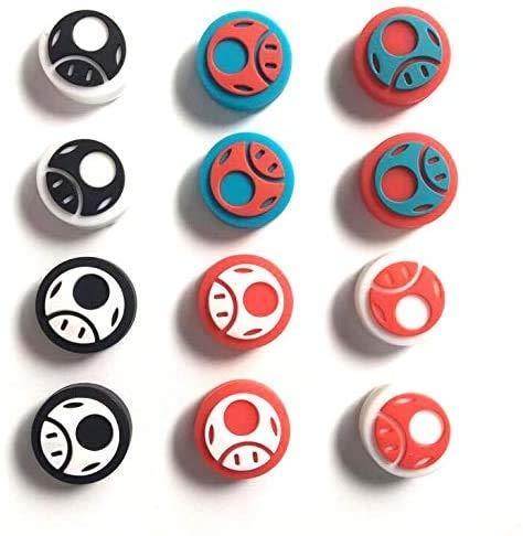 12 agarres para pulgar antideslizantes de silicona para mando Nintendo Switch Poke Ball Plus Pokeball NS