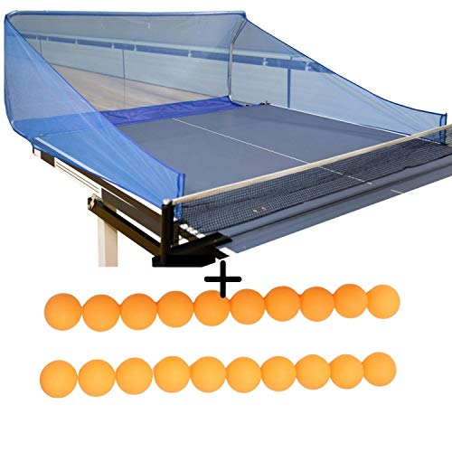 Ball Catch Net for Ping Pong and Table Tennis, This Catcher Net is Great for Single Player Practice Training with a Robot Trainer, Includes 20 Balls, by Things and Thoughts