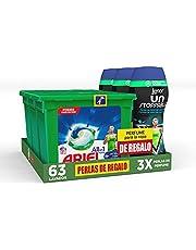 Ariel Wasmiddelcapsules, 21 wasbeurten, Active + Lenor onverstopbare parfumparels voor wasgoed, 15 wasbeurten, cadeau X3 2190 g