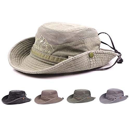 Obling Cappello Estivo, Unisex, a Tesa Larga, Protegge dai Raggi UV, Antivento, Bucket Hat per attività all'aperto