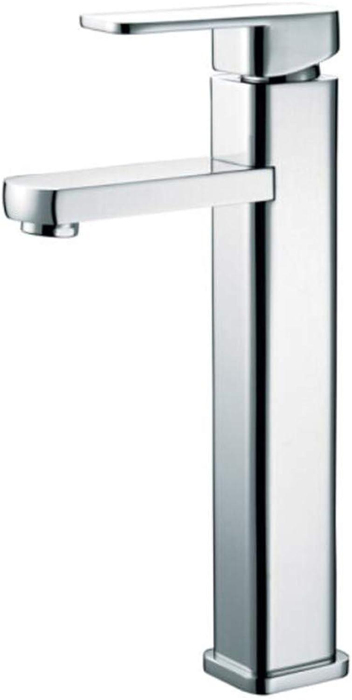 Wasserhahn Spülarmatur Vorfenster Niederdruckkupfer Kalt-Heies Einlochbecken, Quadratischer Waschtisch, Oberes Becken Verlngert