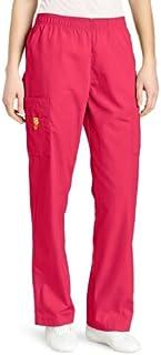 WonderWink Women's Scrubs Quebec Full Elastic Cargo Pant, Hot Pink, 3X/Tall